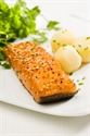 "Picture of Salmon hot smoked portions ""provencal"" - 150 gr pieces"